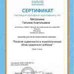 Сертификат участника Всероссийского вебинара