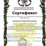 """Сертификат. Методические рекомендации """"Мир вокруг нас"""""""