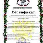 """Сертификат. Дополнительная общеразвивающая программа """"Как у наших у ворот"""""""""""