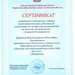 Сертификат победителя конкурсного отбора среди педагогических работников